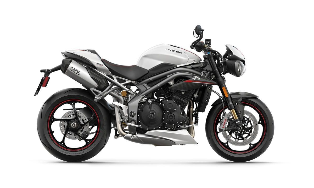 2018 Triumph Speed Triple RS Crystal White