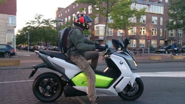 Test 2014 BMW C evolution elektrische motorscooter