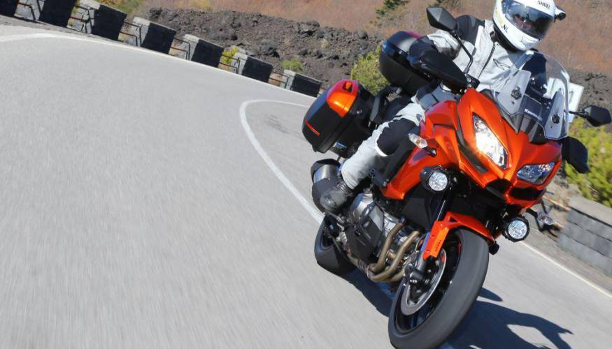 Test 2015 Kawasaki Versys 1000 action